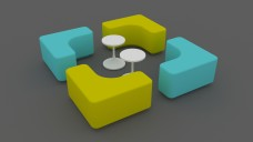 Seating area | FREE 3D MODELS