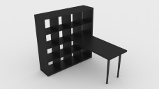 Shelving Unit with Desk | FREE 3D MODELS