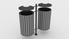 Double Trash Bin | FREE 3D MODELS